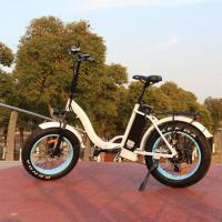 China Foldable 20 Inch Fat Tire Electric Bike Wattage 351 - 500W Voltage 48V For Girls wholesale