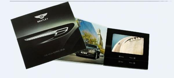 Quality 4.3'' / 7'' LCD Video Brochure with Magnetic switch , video booklet for opening veremonies for sale