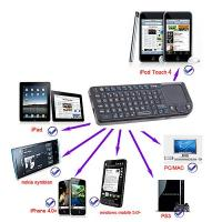China Rii Mini Wireless Bluetooth Keyboard Mouse Touchpad for iPad 2 iPhone 4 wholesale