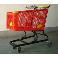 China Virgin PP Unfolding Shopping Basket Trolley American Style Retail Carts180L wholesale