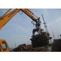 China 360 Degree Rotating Wood Grapple Attachment For Excavator Komatsu PC200 wholesale