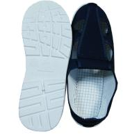 China Four Hole Blue Canvas ESD Safety Shoes Comfortable / Convenient For Clean Room wholesale