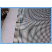 China Black Fiberglass Fly Screen Mesh 18 X 16 PVC Coated Glass Fiber Yarn Plain Weave wholesale