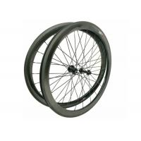 China 23MM Width 700C Carbon Road Bike Wheels 45MM Clincher Shiny / Matte Finishing wholesale