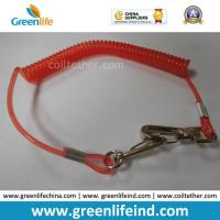 China Red Hot Selling PU Spring String Coil Lanyard Tether wholesale