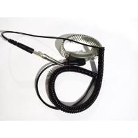 Buy cheap Metal Stainless Steel ESD Wrist Strap Black Static Dissipative 1.8m 2.4m 3.6m from wholesalers