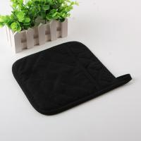 Square Shape One Side Cotton, One Side Silicone Heatproof Kitchen Oven Pot Holders