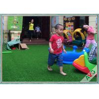 China Non Infill Needed Durable Playground Synthetic Grass Mat Synthetic Turf Soft Grass For Kids wholesale