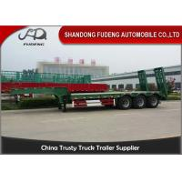 Buy cheap 30 Ton - 60 Ton -100 Tons Customized Lowboy Semi Trailers / Drop Bed Low Loader Trailer from wholesalers