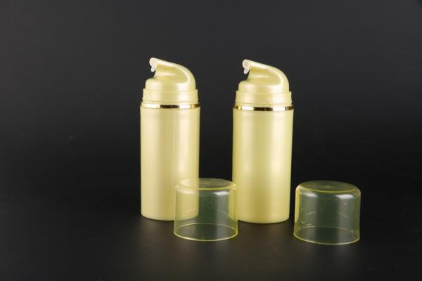 Quality UKA34 hot sale Gold color plastic cosmetic 100ml Mask airless dispenser bottle for sale
