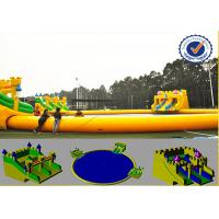 China Water Proof 30m Water Park Equipment With Fabric Reinforced 0.9mm PVC Tarpaulin wholesale
