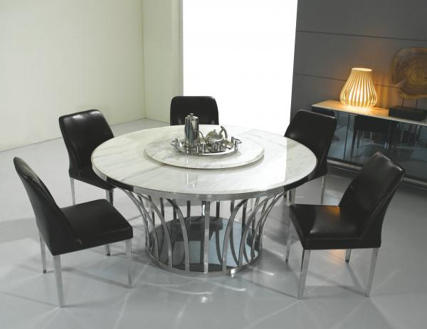 Elegant Dining Tables Accessories decorative dried branches using glass bottle flower vase between clear glass water goblets about dining table Top Dining Table Furniture Circle Dining Room Table Sets Pulpnowco