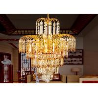 China Gold Tree Honeysuckle Luxury Crystal Chandelier Lamp D420*H560* Chain L 350mm on sale
