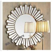 China 36 Inch Wooden Strips 3d Mirror Wall Art, Modern Wood Framed Wall Mirrors wholesale