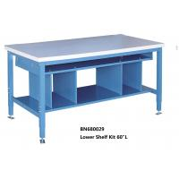 China Multi Purpose Industrial Work Benches Lower Shelf Kit For Divider Space 60 Inch Wide on sale