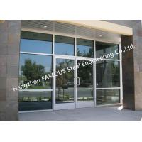 China Modern Commercial Decorative Soundprrof Glass Door Swing Aluminum Frame Glass Door For Sale wholesale