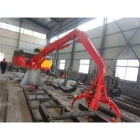 China 2t stationary crane with grab for steel scrap handling on sale