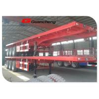 China Leaf Spring Suspension Heavy Duty Semi Trailer For 20ft / 40ft Container Transporting on sale