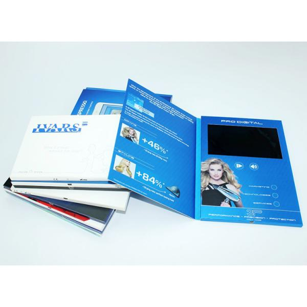 Quality VIF 2018 Promotion Gift Video Greeting Book Card Customimed LCD Video Brochure 7 inch 512M For Business for sale