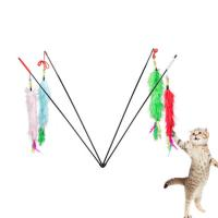 China Feather Soft Pet Play Toys / Interactive Cat Toys Cute Size 55 * 1 Cm on sale