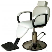 Indoor White Salon Barber Chair Hydraulic With Removable Pillow , Color Customized