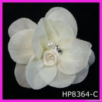 China Elegant Chiffon And Mesh Floral Hair Clip on sale