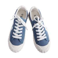 China Rubber Outsole Womens Flat Canvas Shoes Excellent Slip Resistance on sale