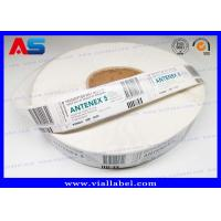 China Steroids 5 ML Vial Label Sticker Customized Printing Strong Adhesive Labels In Rolls on sale