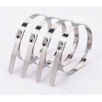 China Ball Locking Self Stainless Steel Tie Straps , 316 Stainless Steel Cable Ties wholesale