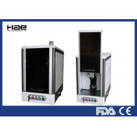 China Fiber Laser Etching Machine , 20w Metal Etching Machine With Fully Enclosed Cabinet on sale