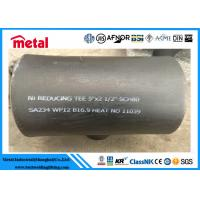 China Seamless Alloy Steel Pipe Fittings SA234 WP12 Reducing Tee 5'' X 2 1/2'' SCH80 on sale