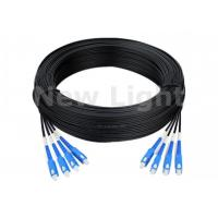 Buy cheap 4 Core Single Mode Fiber Optic Cable Singlemode Duplex , 100M G657A SC Fiber Optic Cable from wholesalers
