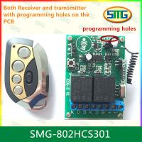 China SMG-802HCS301 12V 2ch remote controller with programming pads wholesale