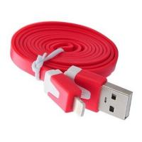 China Dual Color Noodle USB Cable Sync Flat Data Charger Cable for iPhone 2G3G4G4S iPad red wholesale