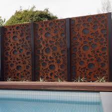 China Rusty decorative corten steel balcony privacy window screen wholesale