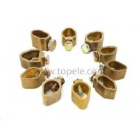 China Brass Electrical Connector Wiring Groud Rod Clamps / earth rod clamp electrical wire clip for grounding connector wholesale