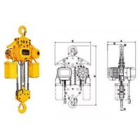 China Yuantai fixed type 3T Single Chain type electric chain hoist with hook wholesale