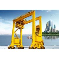 China Rubber Tired Container Gantry Crane Double Girder Rail Mounted For Outdoor wholesale