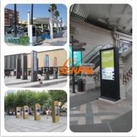 Multi LCD Touch Screen Outdoor Information Kiosk , Outdoor Advertising Display