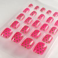 ABS material The polka dot Toe False nail / Fake Toe Nails