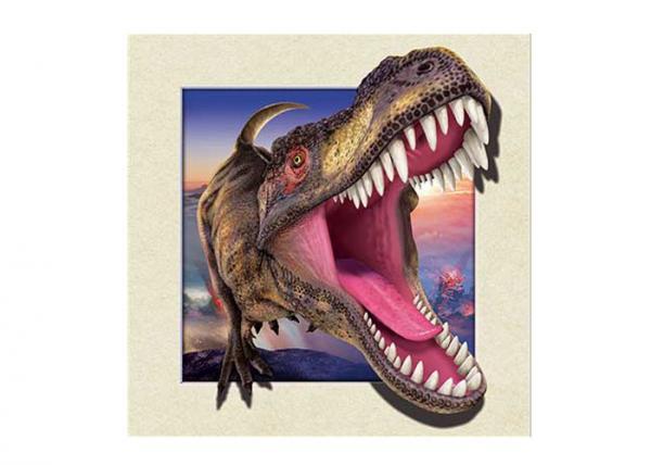 Quality Dinosaur Image 0.6mm PET 3d Lenticular Pictures For Decoration 40x40cm for sale