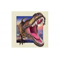 China Dinosaur Image 0.6mm PET 3d Lenticular Pictures For Decoration 40x40cm wholesale