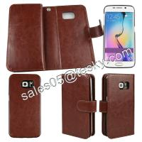 9 card slot leather case wallet case for samsung s6 edge ,OEM and ODM order welcome