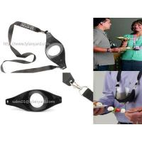 China Custom Drink Sling Wine Glass Holder Lanyard with Double Metal Clips wholesale