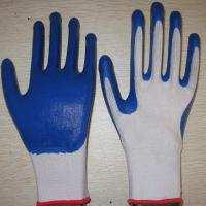 China blue nitrile coated working gloves NG1501-1 wholesale