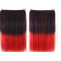 China High Temperature Fiber Red Synthetic Hair Extension 8 Inch - 40 Inch wholesale