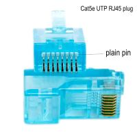 China Networking Cable OEM 8P8C CAT5E Ethernet Cable Plugs with transparent wholesale
