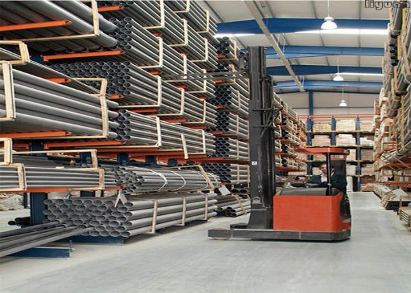 Quality Optional Dimension Cantilever Pipe Rack , Cantilever Steel Storage Racks for sale