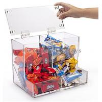 China Counter Top Acrylic Display Case , Pure Acrylic Display Cubes for Candy Wholesale on sale
