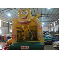 China Cute spongebob inflatable combo /  inflatable bouncer house /  2 in 1 inflatable combo wholesale